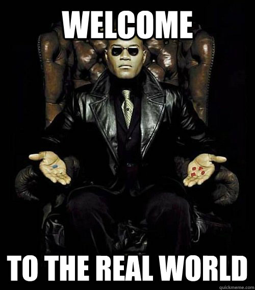 Welcome to the real world - Welcome to the real world  Morpheus
