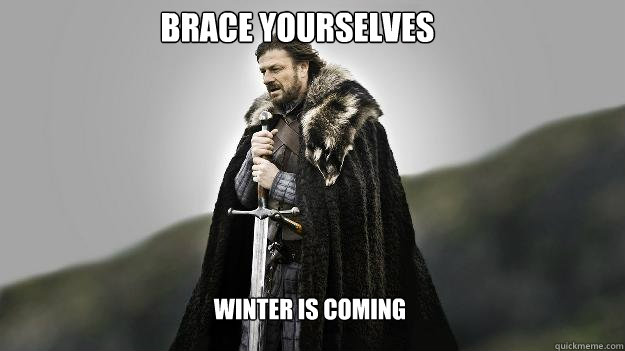 Brace yourselves  Winter is Coming - Brace yourselves  Winter is Coming  Ned stark winter is coming