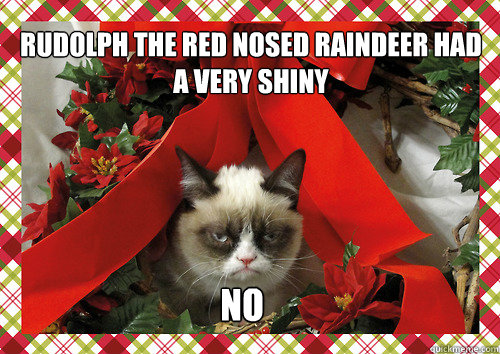 Rudolph the red nosed raindeer had a very shiny  No