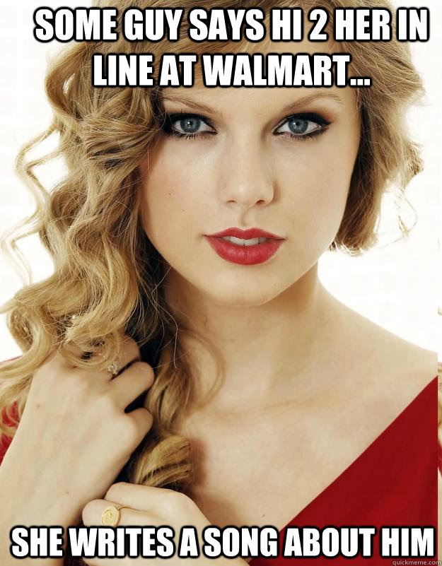 some guy says hi 2 her in line at walmart... she writes a song about him - some guy says hi 2 her in line at walmart... she writes a song about him  Underly Attached Girlfriend