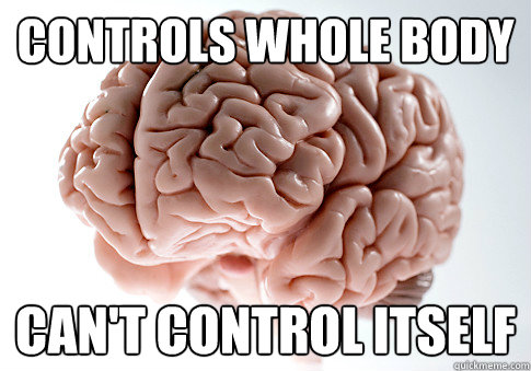 Controls whole body can't control itself - Controls whole body can't control itself  Scumbag Brain