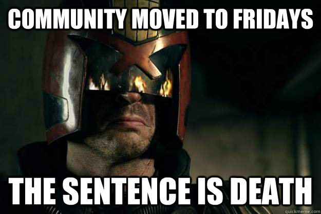 Community Moved To Fridays The Sentence is Death