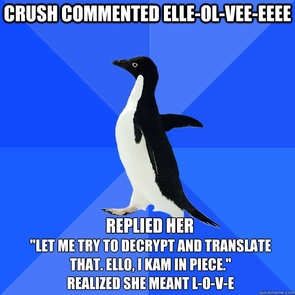 crush commented elle-ol-vee-eeee replied her