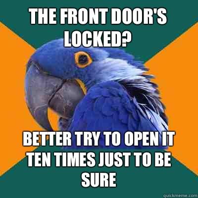 how to open front locked door