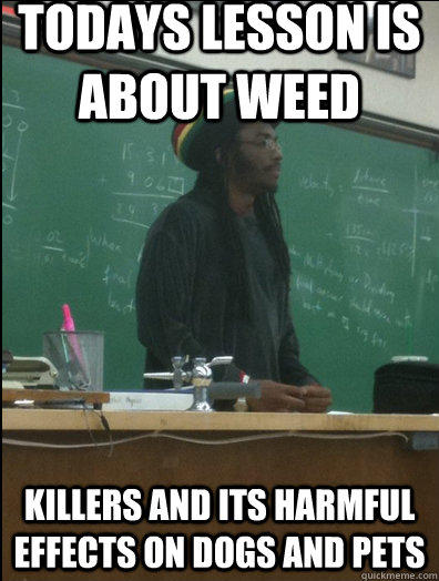 todays lesson is about weed killers and its harmful effects on dogs and pets  Rasta Science Teacher