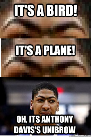 It's A Bird! It's A plane! Oh, its Anthony Davis's Unibrow