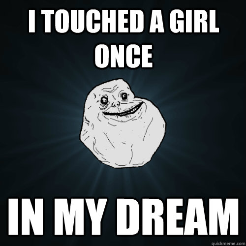 I touched a girl once  in my dream  - I touched a girl once  in my dream   Forever Alone