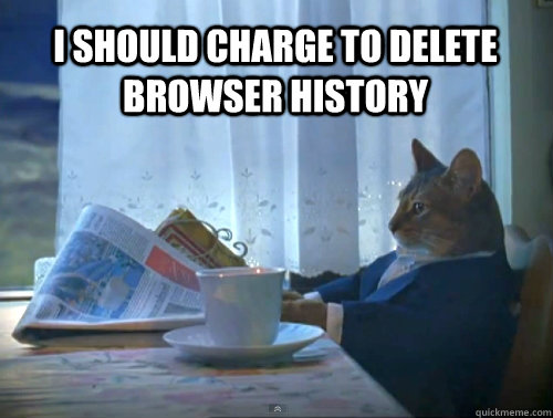 I should charge to delete browser history