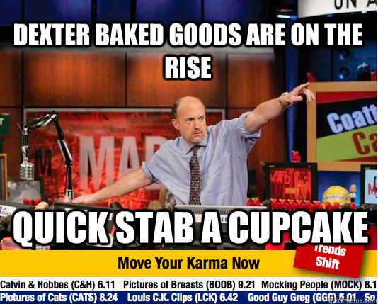 Dexter baked goods are on the rise Quick stab a cupcake - Dexter baked goods are on the rise Quick stab a cupcake  Mad Karma with Jim Cramer