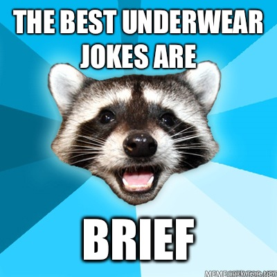 The best underwear jokes are  Brief