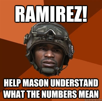 RAMIREZ! HELP MASON UNDERSTAND WHAT THE NUMBERS MEAN