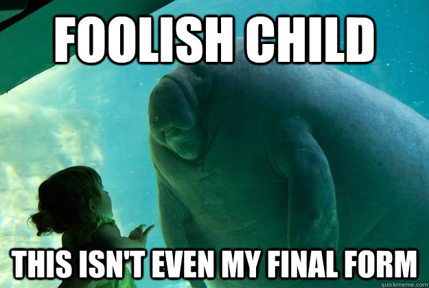Foolish child this isn't even my final form - Foolish child this isn't even my final form  Overlord Manatee
