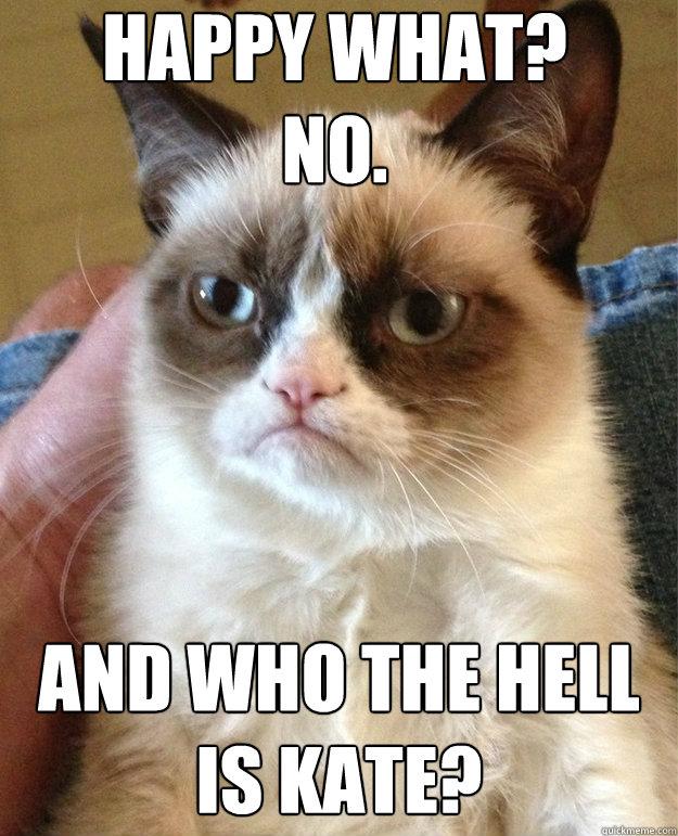 4bbb04406b2d078bac89516fc8aaa91f5d3bda6de4fa3171926960b178c5bac4 grumpy cat birthday memes quickmeme,Happy Birthday Kate Meme