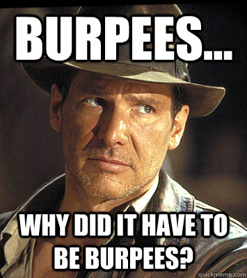 Burpees... Why did it have to be burpees? - Burpees... Why did it have to be burpees?  Misc