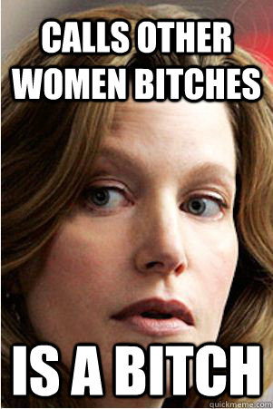 Calls other women bitches is a bitch - Calls other women bitches is a bitch  Hypocrite Skyler White