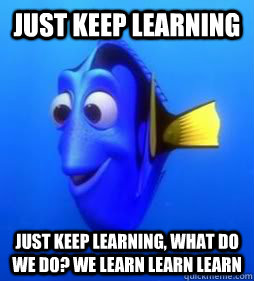 Just Keep learning Just keep learning, what do we do? we learn learn learn  Pinning