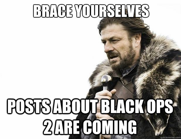 Brace yourselves Posts about Black Ops 2 are coming  - Brace yourselves Posts about Black Ops 2 are coming   Misc