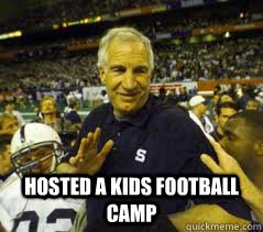 hosted a kids football camp  Penn State