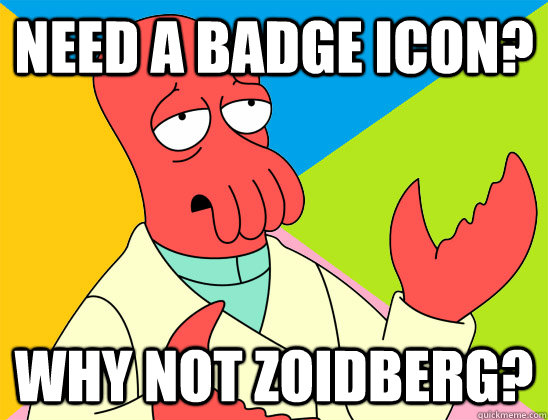 Need a badge icon? why not zoidberg? - Need a badge icon? why not zoidberg?  Misc