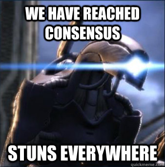 We have reached consensus STUNS EVERYWHERE