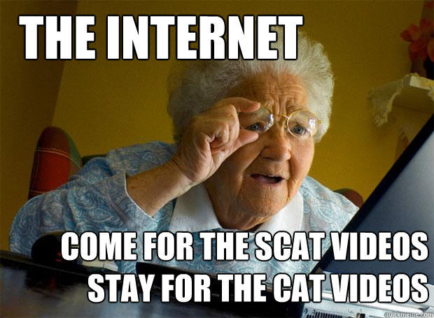 the internet come for the scat videos stay for the cat videos - the internet come for the scat videos stay for the cat videos  Grandma finds the Internet