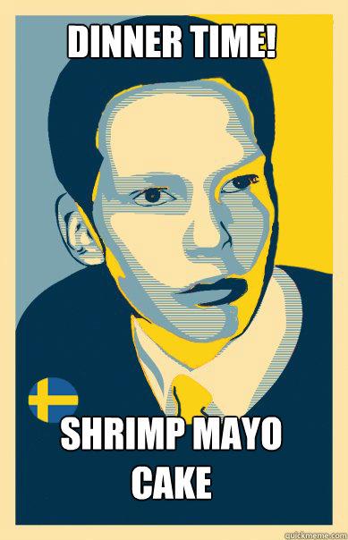 Dinner time! Shrimp Mayo Cake