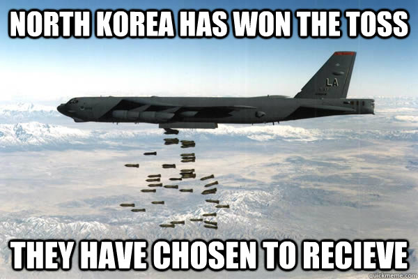 north korea has won the toss they have chosen to recieve