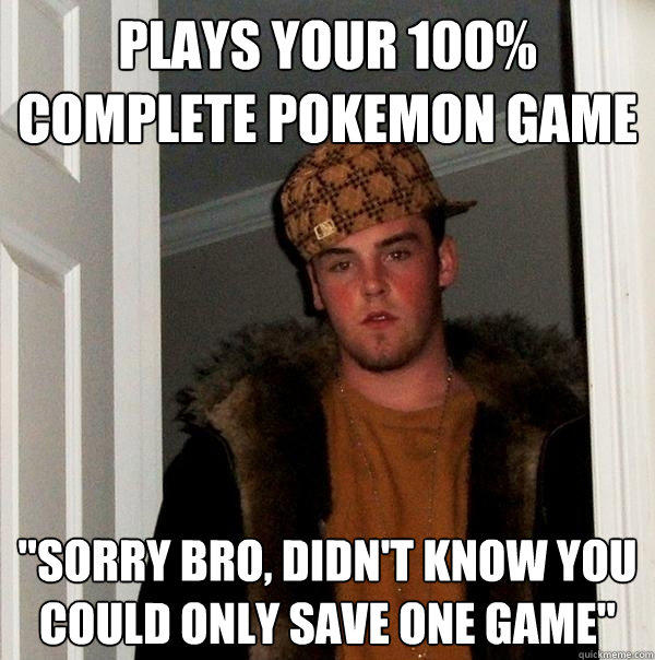 Plays your 100% complete pokemon game