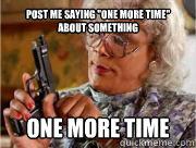 Post me saying