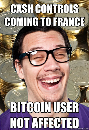 Cash controls coming to France bitcoin user not affected