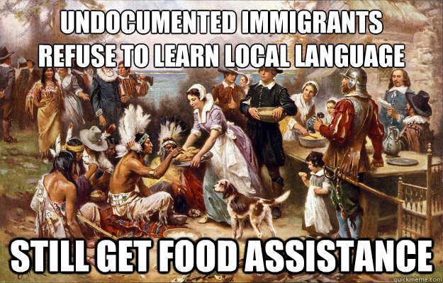 Undocumented immigrants Refuse to learn local language Still get food assistance - Undocumented immigrants Refuse to learn local language Still get food assistance  Lucky Pilgrims