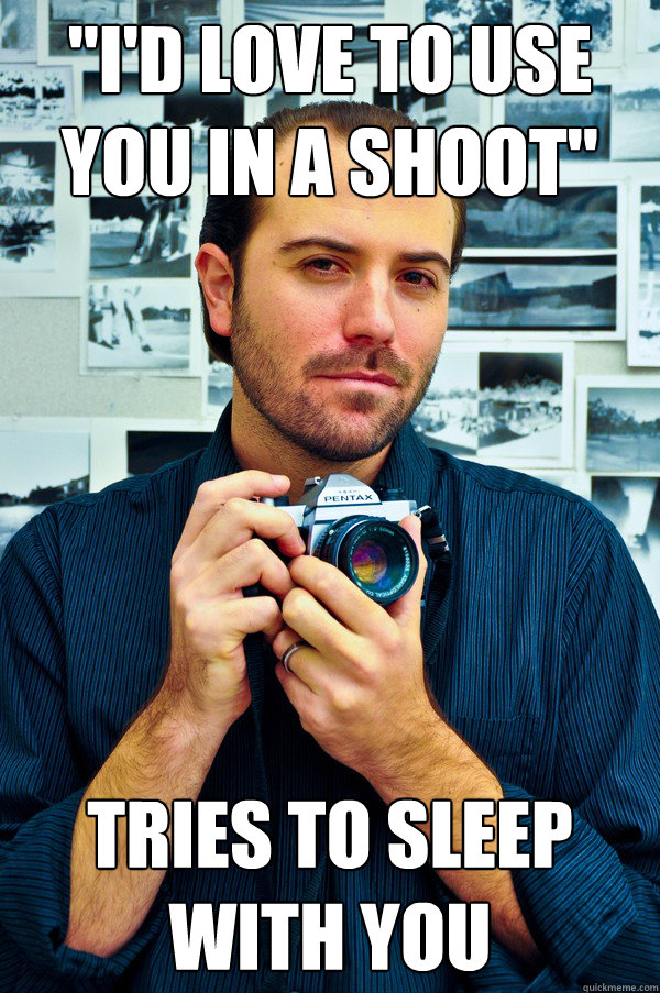dating a photographer meme