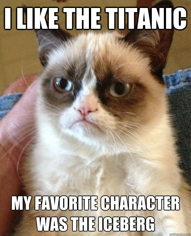 I LIKE THE TITANIC MY FAVORITE CHARACTER WAS THE ICEBERG