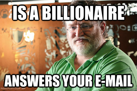 Is a billionaire answers your e-mail