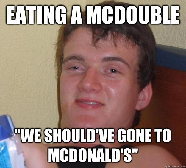 Eating a McDouble