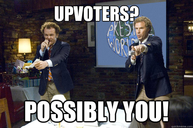 Upvoters? possibly you! - Upvoters? possibly you!  Misc
