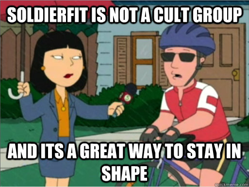 Soldierfit is not a cult group and its a great way to stay in shape