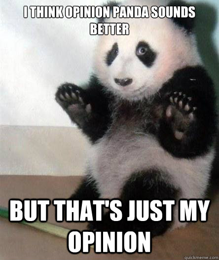 I think Opinion Panda sounds better but that's just my opinion
