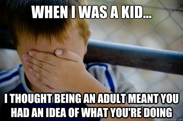 When I was a kid... I thought being an adult meant you had an idea of what you're doing - When I was a kid... I thought being an adult meant you had an idea of what you're doing  Misc