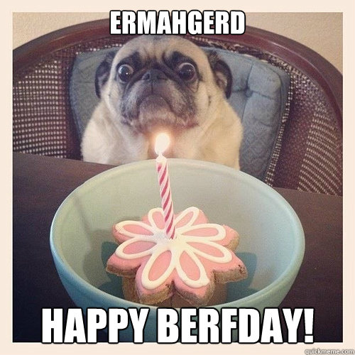 ERMAHGERD HAPPY BERFDAY!