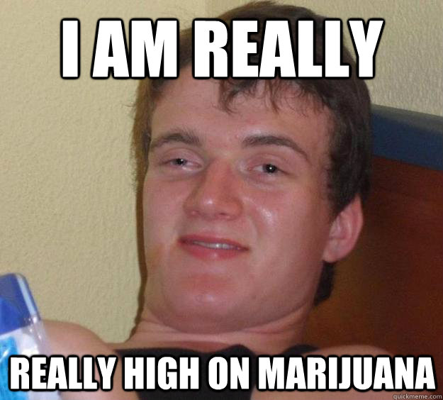 I am really  really high on marijuana - I am really  really high on marijuana  10 Guy