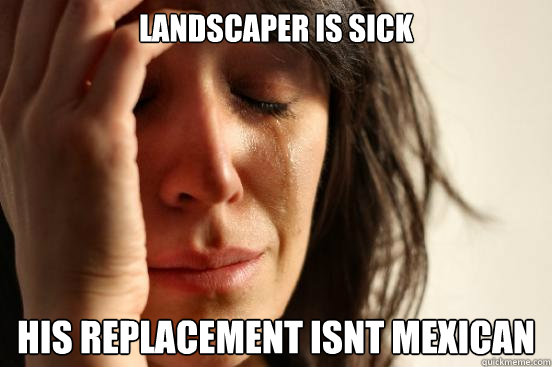 Landscaper Is Sick His Replacement Isnt Mexican First World