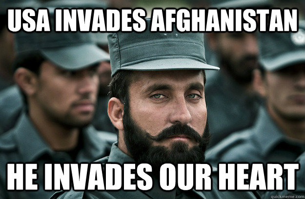 USA invades afghanistan he invades our heart - USA invades afghanistan he invades our heart  Incredibly Photogenic Afghan Officer