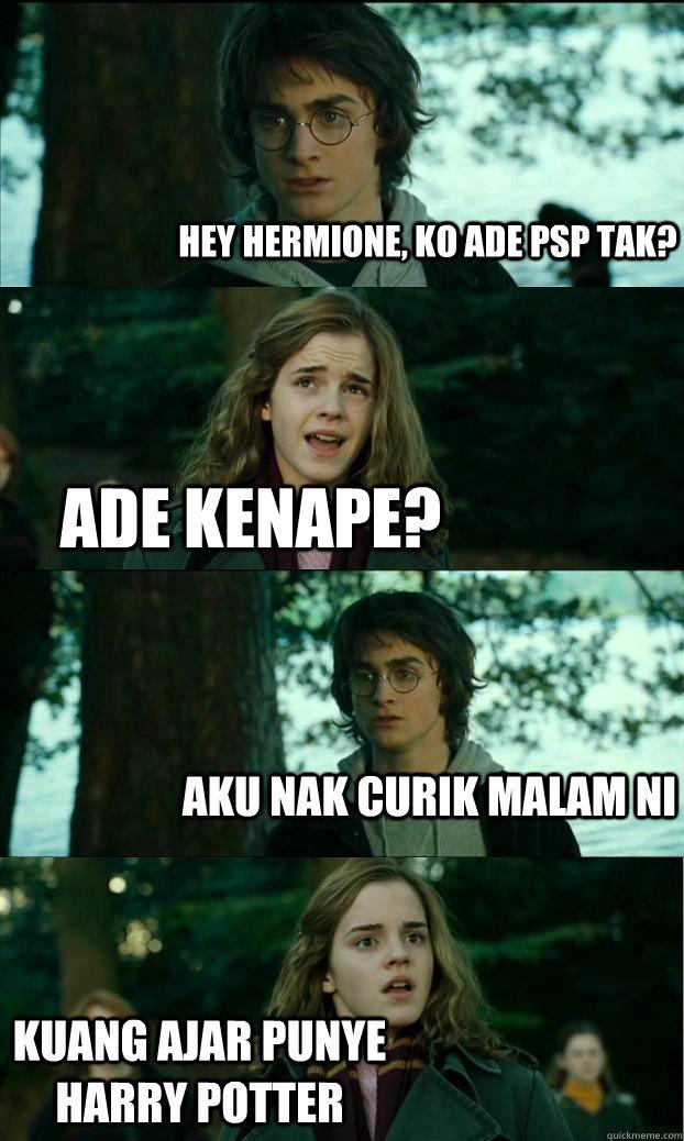 Hey hermione, ko ade PSP tak? ade kenape? aku nak curik malam ni kuang ajar punye Harry Potter - Hey hermione, ko ade PSP tak? ade kenape? aku nak curik malam ni kuang ajar punye Harry Potter  Horny Harry