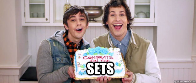 SETS - SETS  Congrats on the sex