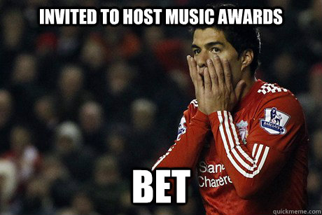 Invited to host Music Awards BET - Invited to host Music Awards BET  Suarez