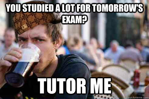 you studied a lot for tomorrow's exam? tutor me