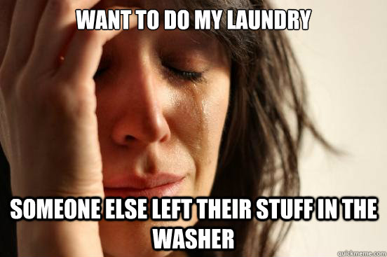 Want to do my laundry Someone else left their stuff in the washer - Want to do my laundry Someone else left their stuff in the washer  First World Problems