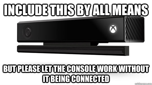 Include this by all means But please let the console work without it being connected - Include this by all means But please let the console work without it being connected  Misc