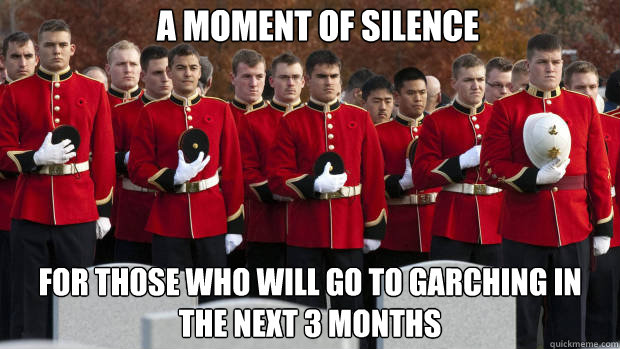 A MOMENT OF SILENCE for those who will go to garching in the next 3 months